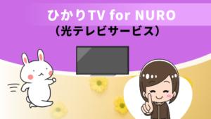 ひかりTV for NURO(光テレビサービス)