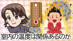 1.4 室内の温度は関係あるのか