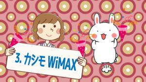 3.カシモWiMAX