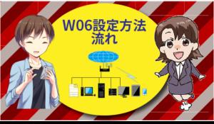 W06の設定方法の流れ