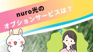 nuro光のオプションサービスは?
